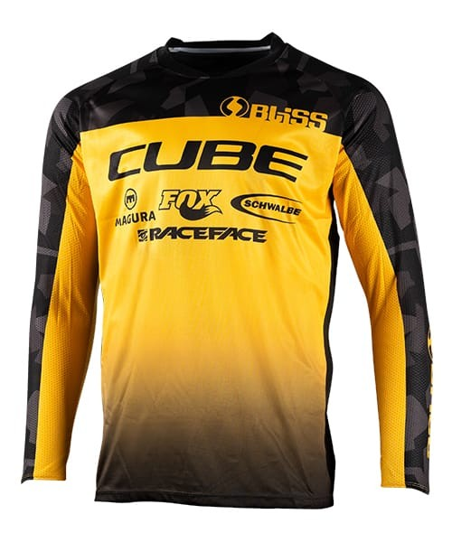 CUBE GLOBAL SQUAD JERSEYS, BLACK/YELLOW